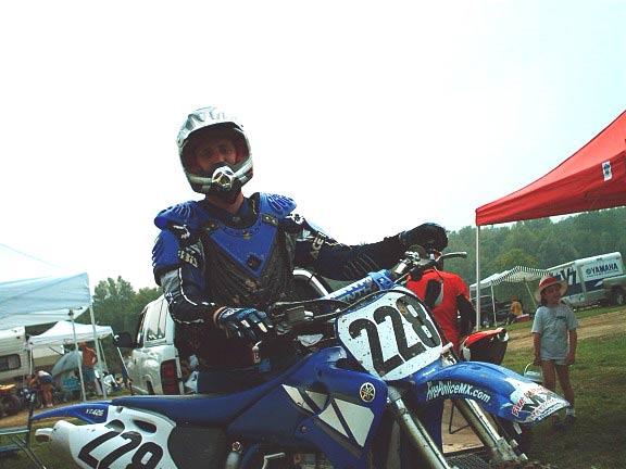 motorcycle racer on bike